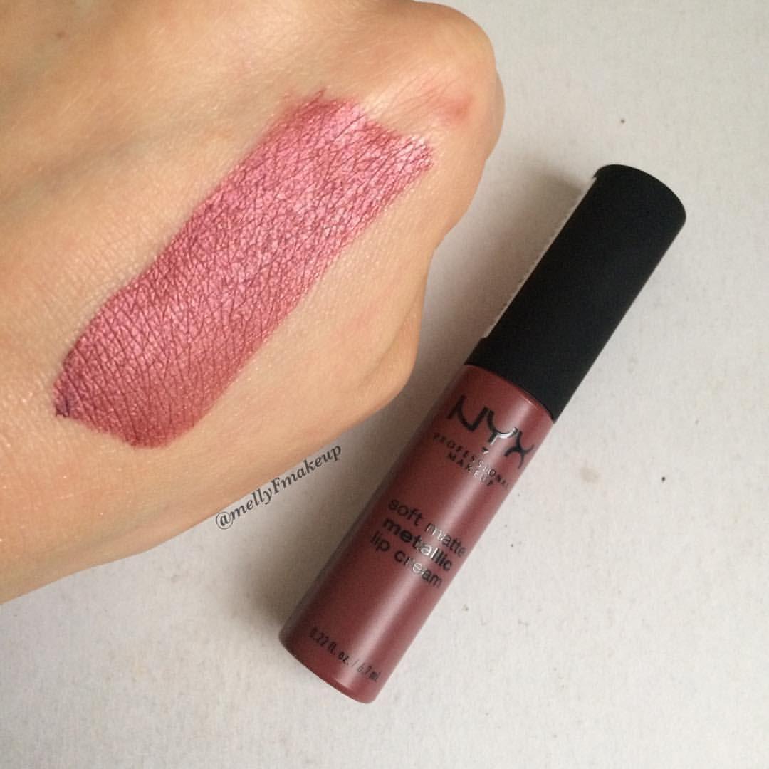 NYX Soft matte metallic lip cream - Obrázok č. 3