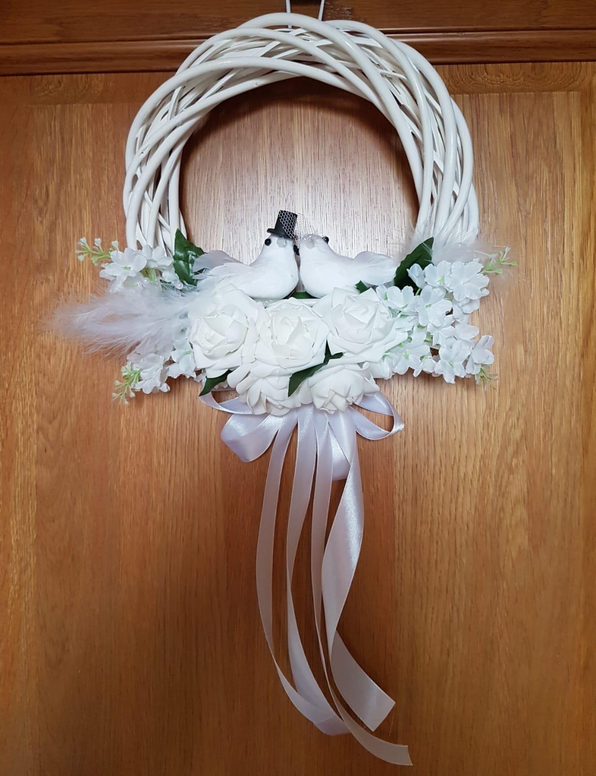 svadobný veniec na dvere - Obrázok č. 4