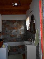 ještě nedokončená koupelna..