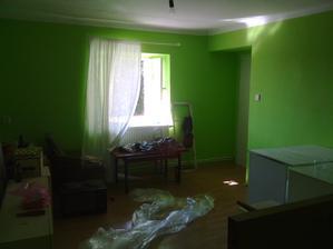 Jiný pohled... děsivá zelená zbyla po předchozích nájemnících...