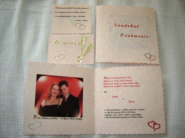 Janka a Shaun - Slovenska verzia oznamiek a pozvanok