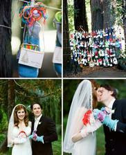 ponožky :D možná pro nevěstu a ženicha bude stačit