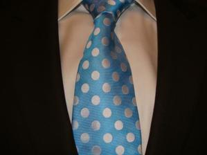 kravata, retro puntíky