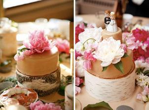 pivoně na dortu