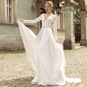 Pohodlné svadobné šaty v. 32-56, 38