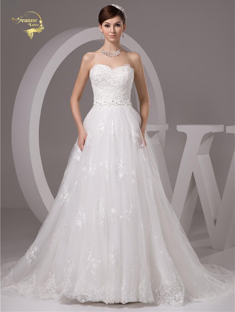 Nové svadobné šaty v.32-56 - Obrázok č. 1