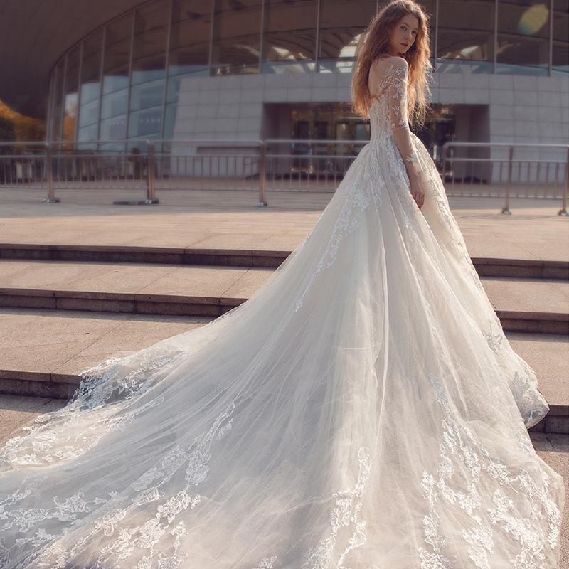 Romantické svadobné šaty.32-56 v.38 ihneď k odberu - Obrázok č. 4