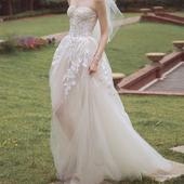 Romantické splývavé svadobné šaty v.32-56, 40