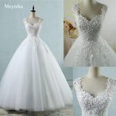 Čipkované svadobné šaty v.32-56, 38