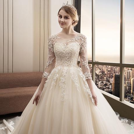 Svadobné šaty veľkosti 32-54 - Obrázok č. 1