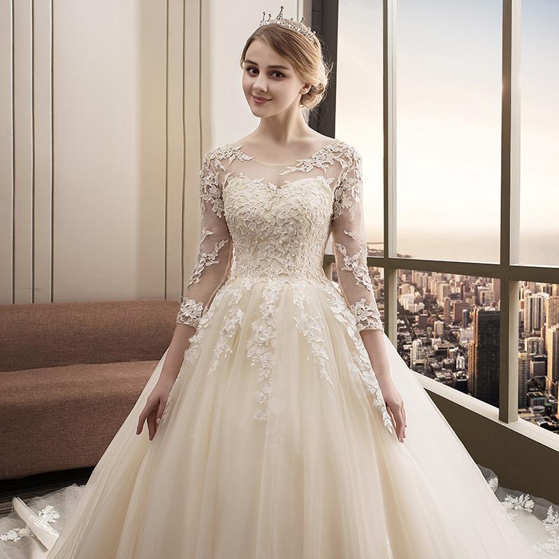 Svadobné šaty veľkosti 32-54 - Obrázok č. 3