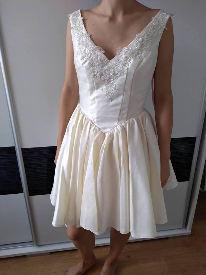 Nové kvalitné spoločenské šaty 38-40 na sklade - Obrázok č. 1
