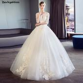 Elegantné svadobné šaty vel. 32-50, 42