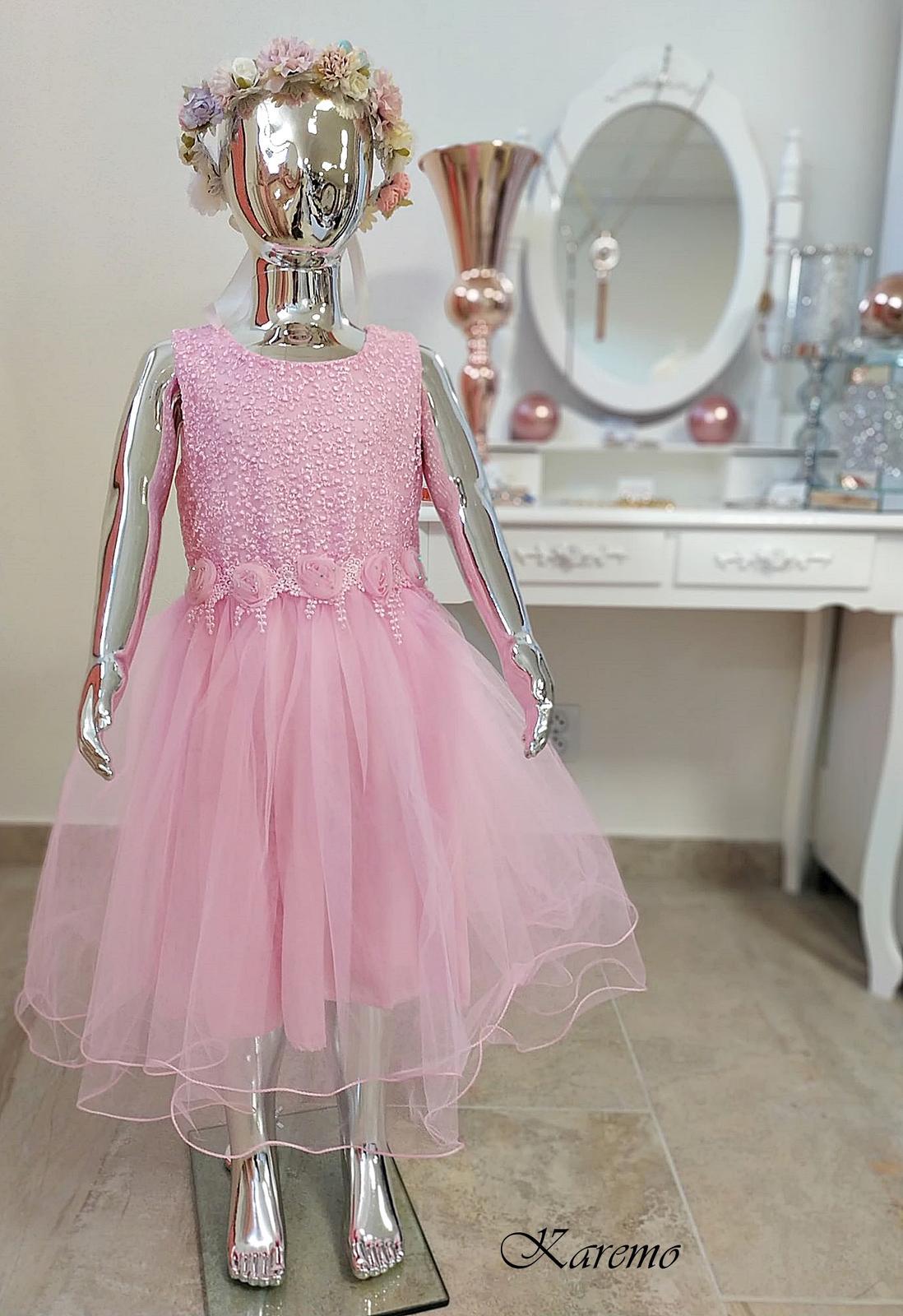 Ružové šaty, 122,128,134,140,146,152, - Obrázok č. 1