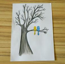 Náš strom. Ještě dopsat jména a je hotový.
