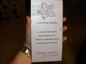 Blahopřání pro kamarádku..podepisovala jsem se ještě jako Pankratzová:-)