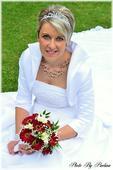 svatební šaty s krajkou a perličkami, 40