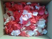 platky růží - mix červené+bílé+růžové,