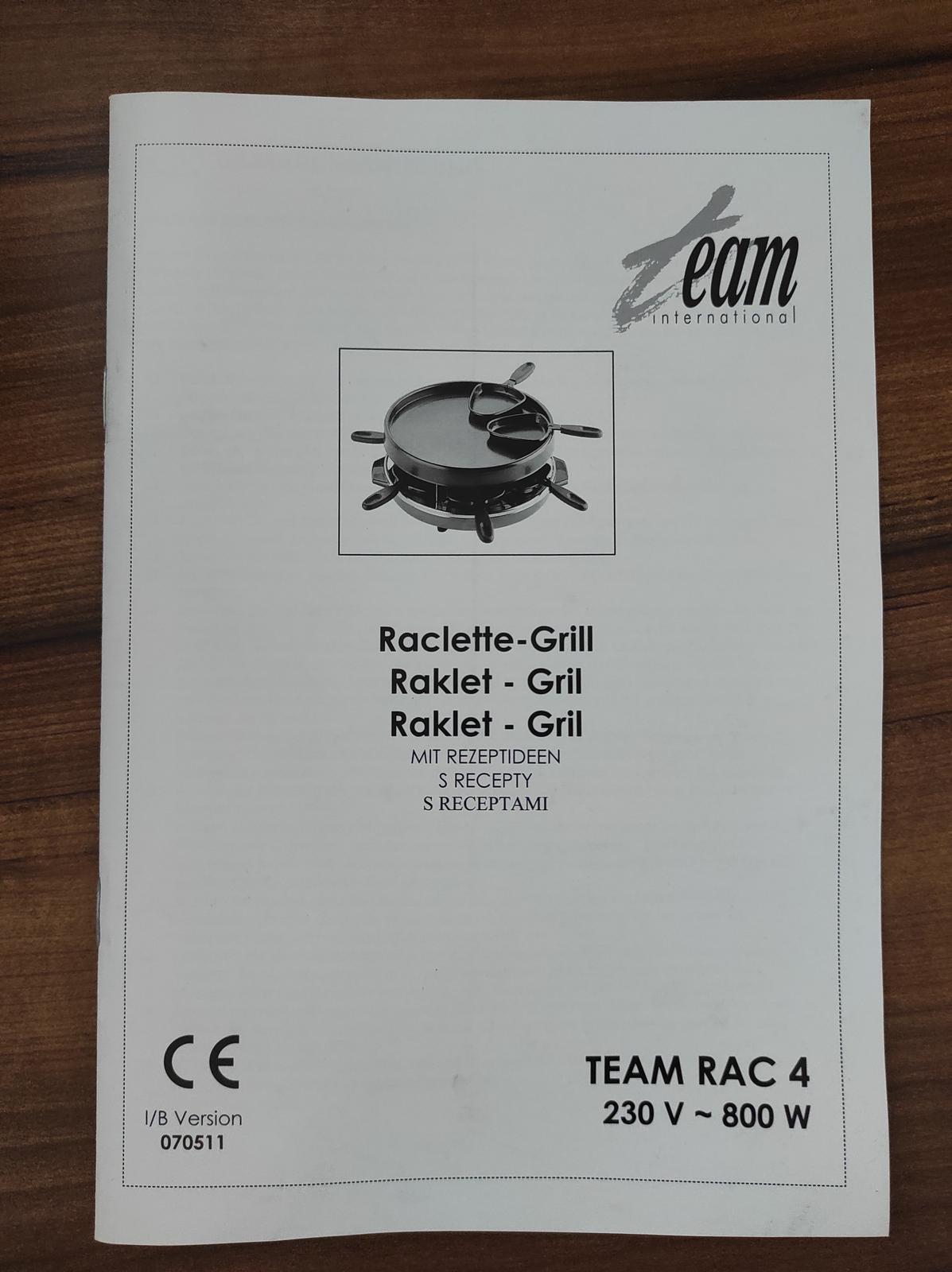 Elektricky raclette gril - Obrázok č. 4