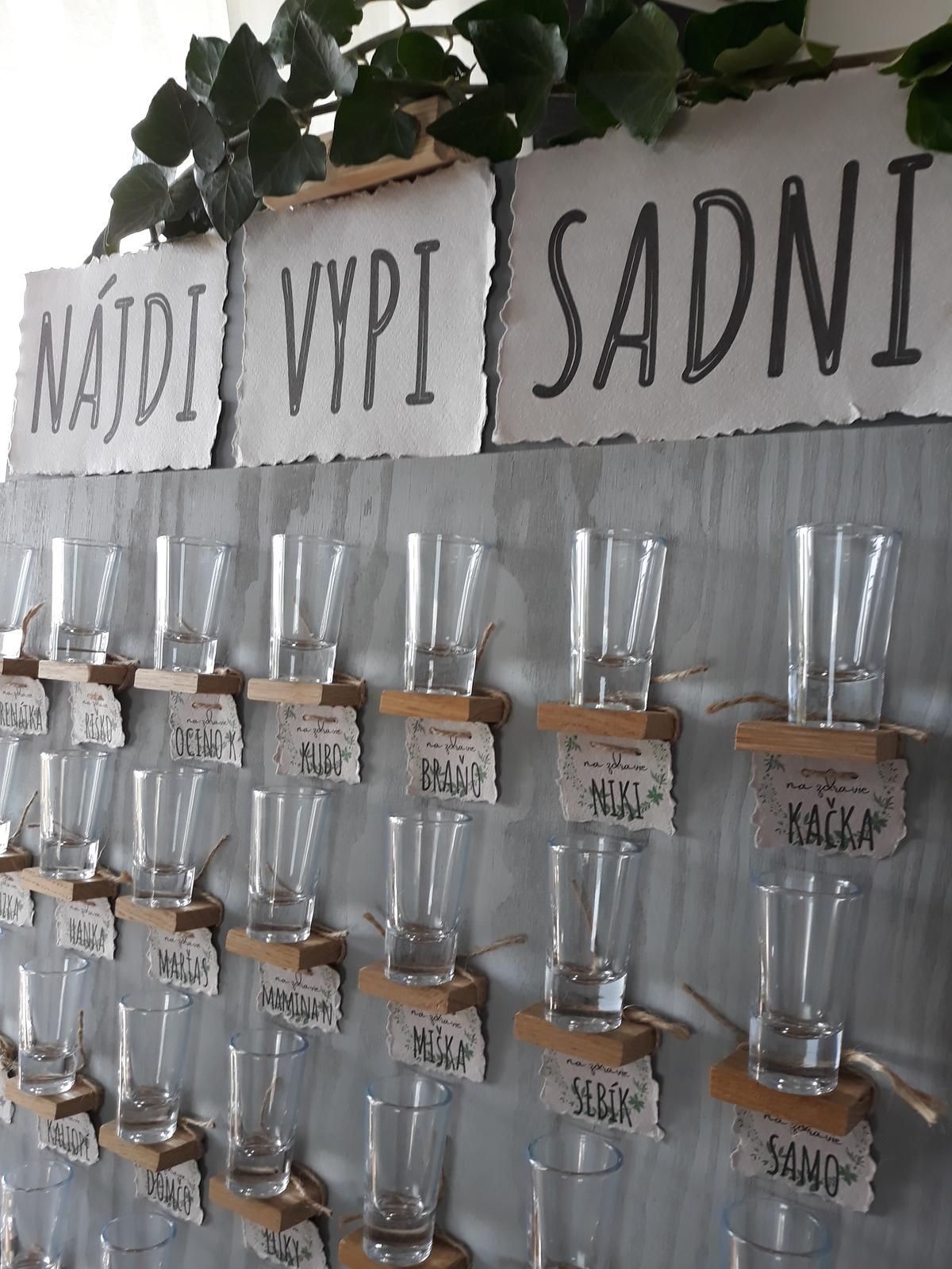 Prípitková stena / Welcome drink wall - Obrázok č. 1