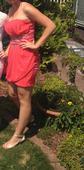 Krátke lososové šaty s kamienkami , 36