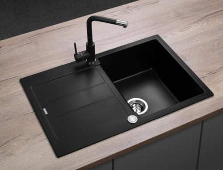 NOVA NEPOUŽITÁ kuchynská čierna batéria Concept - Obrázok č. 2