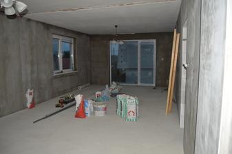 nahodená celá kuchyňo-obývačka