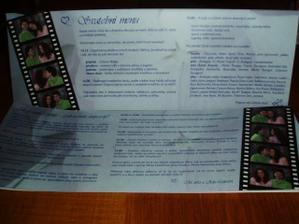 menu a harmonogram na stoly