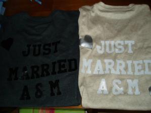 a trička Just Married od sestřenky z New Yorku:)