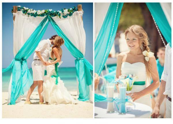 Niečo pre inšpiráciu pre budúce nevestičky... - svadba na pláži