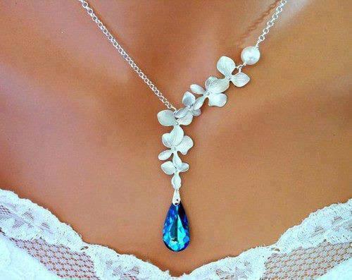 Niečo pre inšpiráciu pre budúce nevestičky... - svadobný náhrdelník