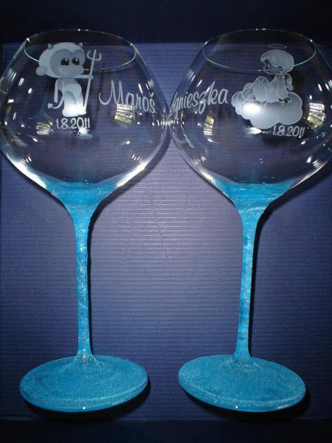 Niečo pre inšpiráciu pre budúce nevestičky... - svadobné poháre netradične