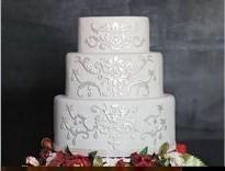 zimná svadobná torta