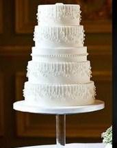 Niečo pre inšpiráciu pre budúce nevestičky... - zimná svadobná torta