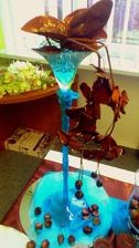 vysoká martini váza