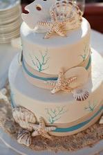 svadobná torta v morskom štýle