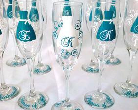 poháre pre nevestu a družičky