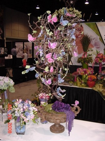 Svadba inšpirovaná krásou motýľov - dekorácia