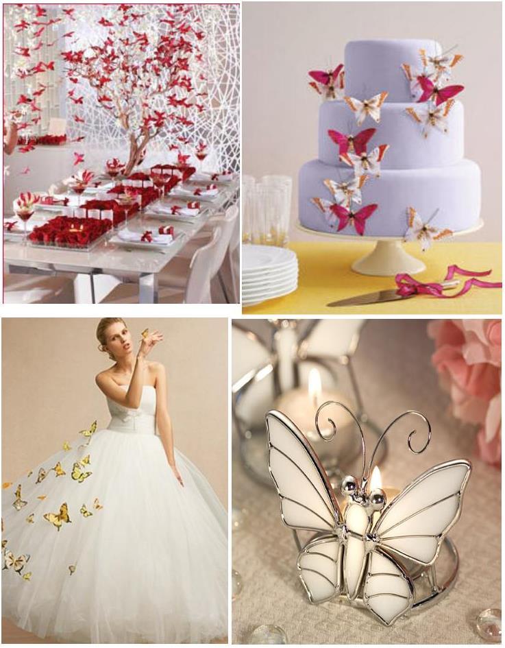 Svadba inšpirovaná krásou motýľov - dekorácie + svadobné šaty
