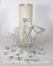 dekorácia na sviečku