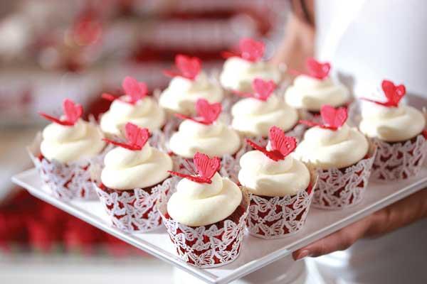 Svadba inšpirovaná krásou motýľov - cupkakes alebo maffin