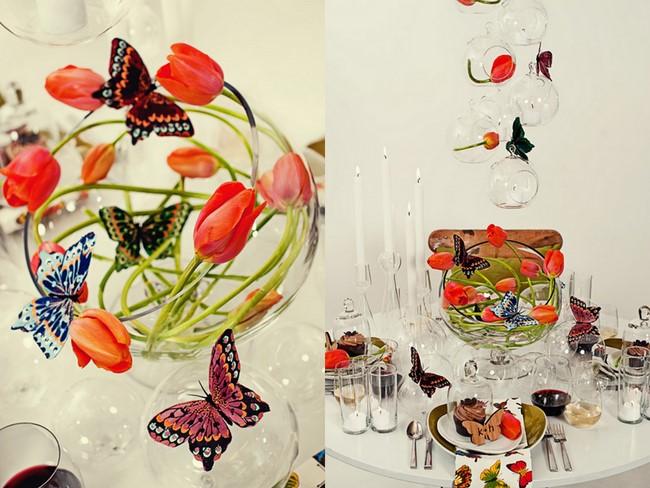 Svadba inšpirovaná krásou motýľov - kvetinová dekorácia