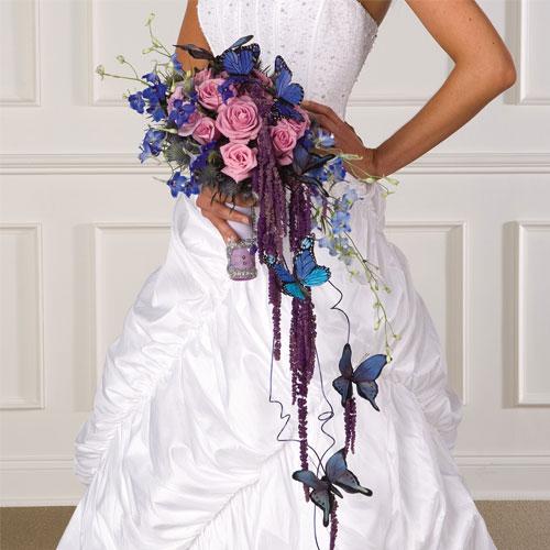 Svadba inšpirovaná krásou motýľov - svadobná kytica