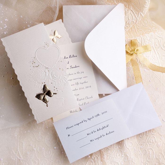Svadba inšpirovaná krásou motýľov - svadobné oznámenie