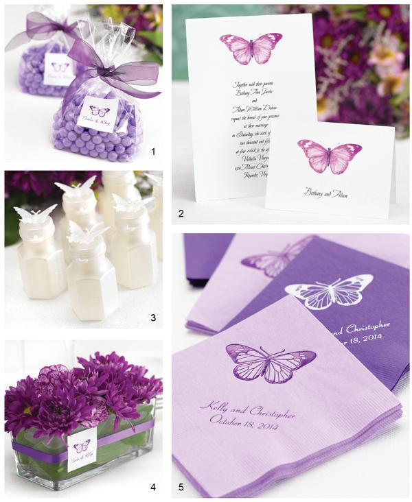 Svadba inšpirovaná krásou motýľov - servítky + dekorácia