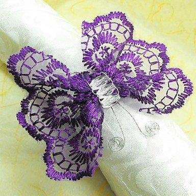 Svadba inšpirovaná krásou motýľov - spona na servítky z čipky