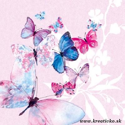 Svadba inšpirovaná krásou motýľov - svadobná servítka