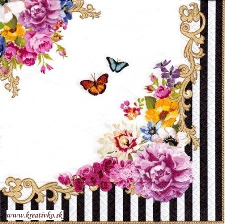Svadba inšpirovaná krásou motýľov - servítka