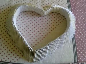 ručne robené origami srdce