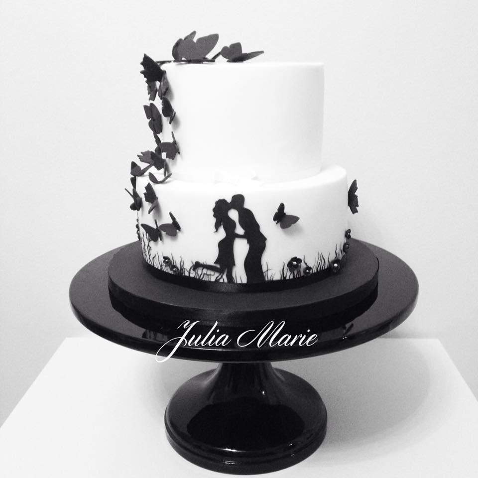Svadba inšpirovaná krásou motýľov - svadobná torta